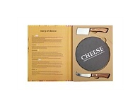 Living & Giving Cheese ServIng Set WIth Slate Board Set 3 In Gift Book