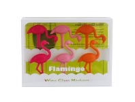 Living & Giving Flamingo Wine Markers Set 6