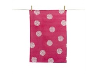 Living & Giving Sketchy Spot Pink Tea Towel 50x70cm