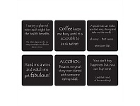 Living & Giving Laugh Out Loud Coasters Set 6