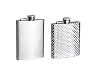 Living & Giving Diamond Pattern Stainless Steal Hip Flask 236ML