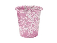 Living & Giving Dishy Enamel Marbled Tumbler White and Pink 300ml