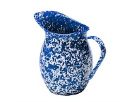 Living & Giving Dishy Marbled Enamel Pitcher Blue and White 1.25L