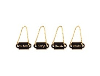 Living & Giving Jetsetter Decanter Tags Set of 4