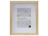 Living & Giving Boxed Photo Frame Wood Natural 5x7