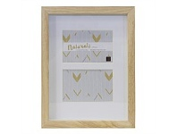 Living & Giving Multi Boxed Photo Frame Wood Natural 4x6