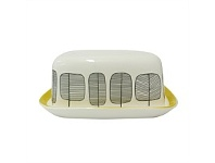 Living & Giving Trees Butter Dish Black and Yellow 15x12cm