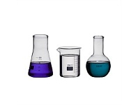 Living & Giving Science Lab Glass Flask 100ml Set of 3
