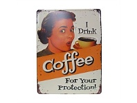 Living & Giving Coffee Protection Embossed Plaqued 30x40cm