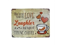 Living & Giving Strong Coffee Embossed Plaque 30x40cm