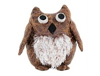 Living & Giving Owl Leather Look Desk Buddy Brown