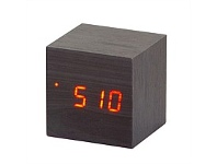 Living & Giving Time Cube Black LED Clock 6cm