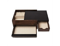 Living & Giving Umbra Stowit Jewellery Box Black and Walnut