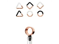Living & Giving Umbra Geo Wine Charms and Topper Set