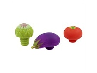 Living & Giving Charles Viancin Vegetable Bottle Stoppers Assorted