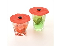 Living & Giving Charles Viancin Poppy Lid Drink Cover Extra Small Set of 2