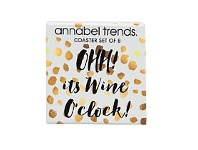 Living & Giving Annabel Trends Wine Design Coasters Set of 8