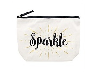 Living & Giving Annabel Trends Sparkle Canvas Cosmetic Bag