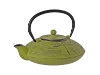 Living & Giving Cast Iron Dragonfly Teapot Green 770ml