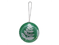 Living & Giving Montage Fern Christmas Ball Decoration Green