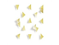 Living & Giving Umbra Confetti Triangles Wall D?cor 16 Piece Brass