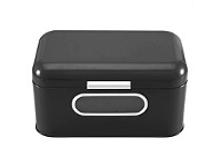 Living & Giving Bread Bin with Window Black Small