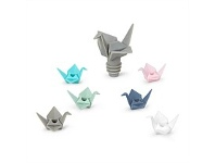 Living & Giving Umbra Origami Wine Charms and Topper Set