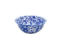 Living & Giving Enamelware Marbled Bowl Blue & White
