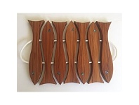 Living & Giving Romeyn Fish Six Pot Stand Rimu Kauri With Paua Eyes Large