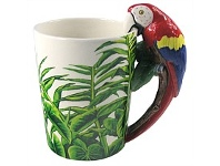 Living & Giving Macaw Handled Mug