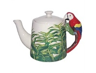 Living & Giving Macaw Handled Teapot