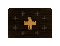 Living & Giving Gold Cross Placemat Rectangle