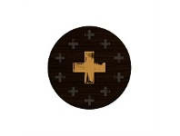 Living & Giving Gold Cross Placemat Round