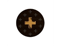Living & Giving Gold Cross Coaster Round Set of 4