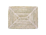 Living & Giving Seagrass & Cotton Rectangular Placemat White 41x31cm