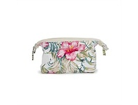 Living & Giving Annabel Trends Hibiscus Cosmetic Bag White Small