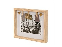 Living & Giving Clip Photo Frame Natural 5x7
