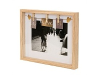 Living & Giving Clip Photo Frame Natural 6x8