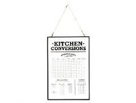 Living & Giving Kitchen Conversion Chart Glass Print