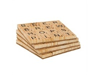 Living & Giving Four Word Scrabble Beer Coasters