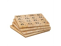Living & Giving Four Word Scrabble Wine Coasters