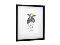 Living & Giving Coco Cow Framed Print Wall Art 45x55cm