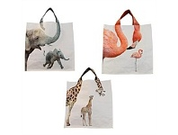 Living & Giving Shopping Bag Zoo Animals Assorted 40cm
