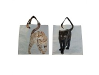 Living & Giving Shopping Bag Cats Assorted 40cm