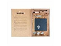 Living & Giving Slate Cheese Serving Set In Book 6 Piece
