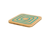 Living & Giving Agee Kitchen Bamboo & Silicone Trivet Blue