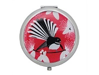 Living & Giving Flirting Fantails Compact Mirror Red