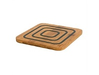 Living & Giving Agee Kitchen Bamboo & Silicone Trivet Grey