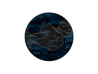 Living & Giving Flow Placemat Round Dark Blue