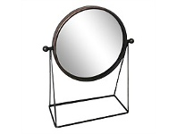 Living & Giving Round Metal Mirror